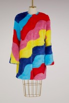 Mira Mikati Fur Rainbow coat