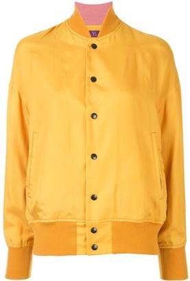 Y's Silk Angel Print Bomber Jacket