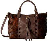 American West Cow Town Large Zip Top Convertible Satchel Satchel Handbags
