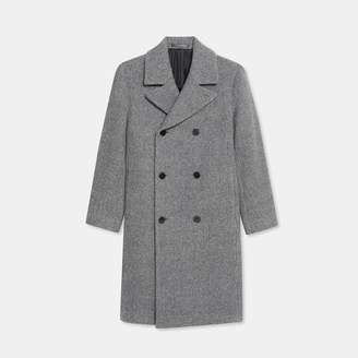 Theory Wool Tweed Double-Breasted Coat