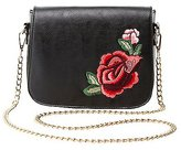 Charlotte Russe Floral Patch Crossbody Bag
