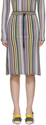 Marques Almeida Multicolor Striped Straight Skirt