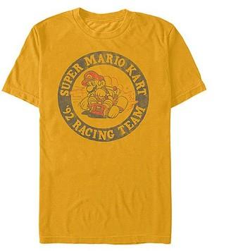 Fifth Sun Men's Tee Shirts GOLD - Nintendo Gold Mario 'Racing Team' Crewneck Top - Men