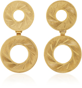 Nicole Romano 18K Gold-Plated Double Radius Hoop Earrings