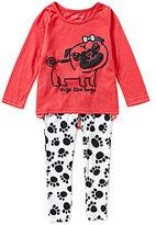Komar Kids Little/Big Girls 4-12 Pugs Like Hugs Pajama Top & Pants Set