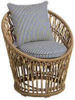 One Kings Lane Palma Wicker Chair - White/Midnight