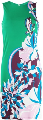 Emilio Pucci peony print fitted dress