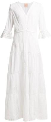 Le Sirenuse Le Sirenuse, Positano - Bella Broderie Anglaise Maxi Dress - Womens - White