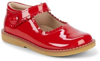 Elephantito Kid's Scallop Patent Leather Mary Jane Flats