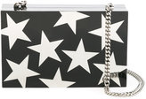 Stella McCartney Stars print box clutch - women - plastic - One Size