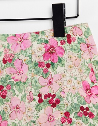 And other stories & floral print mini skirt in multi