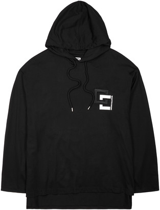 Wooyoungmi Black Logo Hooded Cotton Top
