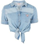 Guess originals Tie front denim shirt