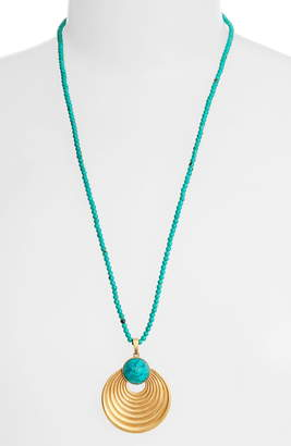 Dean Davidson Savannah Collection Turquoise Pendant Necklace