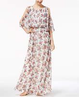 Marella Split-Sleeve Georgette Maxi Dress