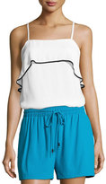 Alice + Olivia Etta Ruffle Silk Cami Top, Multi