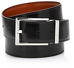 Salvatore Ferragamo Men's Square Buckle Reversible Belt