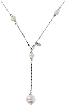 Honora Adjustable Cultured Pearl Necklace, Sterling