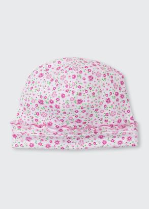 Kissy Kissy Les Petits Jardins Floral Print Baby Hat, Size Newborn-Small