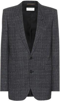 Saint Laurent Checked wool blazer