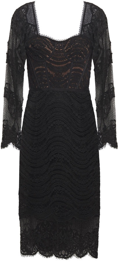 Jonathan Simkhai Scalloped Guipure And Corded Lace Dress