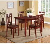 Acme Sonata Wooden 5-Piece Dining Set in Cherry