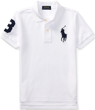 Ralph Lauren Kids Big Pony Pique Knit Polo, Size 4-7