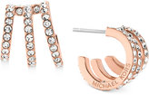 Michael Kors Pavé Triple Layer Huggy Hoop Earrings