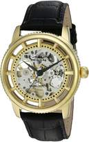 Stuhrling Original Men's 'Legacy' Automatic Stainless Steel and Black Leather Dress Watch (Model: 393.333531)
