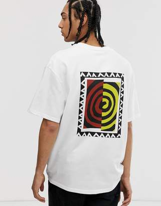 Weekday Great t-shirt with swirl print-White