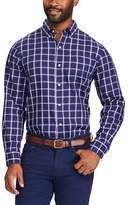 Chaps Big & Tall Classic-Fit Plaid Easy-Care Button-Down Shirt