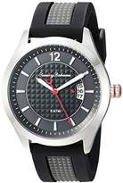 Tommy Bahama Men's Quartz Stainless Steel and Silicone Casual Watch, Color:Black (Model: TB00029-01)