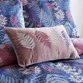 Kaleidoscope Winter Fern Embroidered Filled Cushion