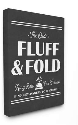 """Stupell Industries Olde Fluff and Fold Ring Bell for Service Canvas Wall Art, 16"""" x 20"""""""