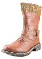 Wanted B52 Women Round Toe Leather Brown Boot.
