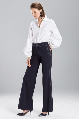 Natori Denim Side Slit Pants