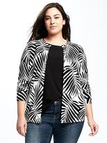 Old Navy Semi-Fitted Printed Plus-Size Cardi