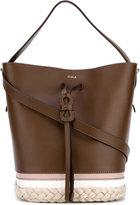 Furla woven detail shoulder bag - women - Calf Leather - One Size