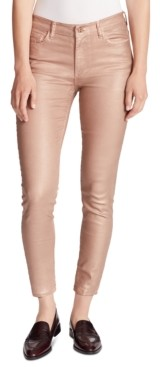 Ella Moss Foiled High-Rise Skinny Ankle Jeans