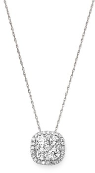 Bloomingdale's Diamond Cluster Pendant Necklace in 14K White Gold, 1.0 ct. t.w. - 100% Exclusive