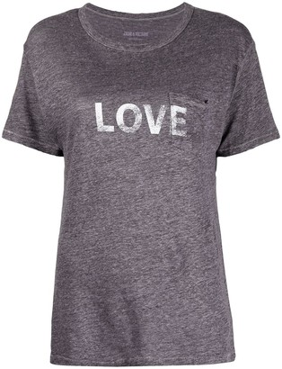 Zadig & Voltaire Amber Love print T-shirt