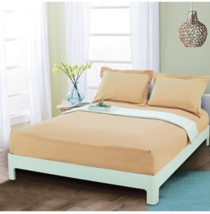 Elegant Comfort Silky Soft Single Fitted Sheet Queen Gold Bedding