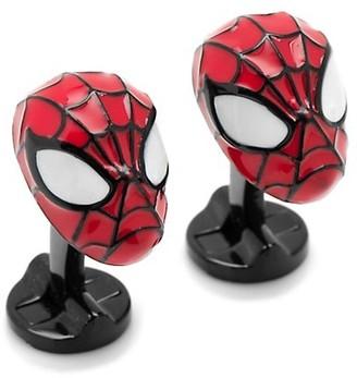 Cufflinks Inc. Marvel Comics Silvertone 3D Spiderman Cuff Links