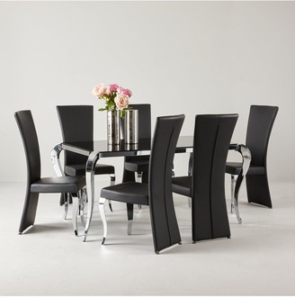 Boutique 163 cm Dining Table + 6 Chairs(arrives in one delivery)