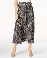 NY Collection Petite A-Line Printed Skirt