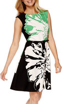 Studio 1 Sleeveless Print Fit-and-Flare Dress