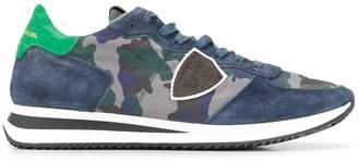 Philippe Model camo print lace up sneakers