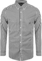 Love Moschino Striped Pocket Shirt Black