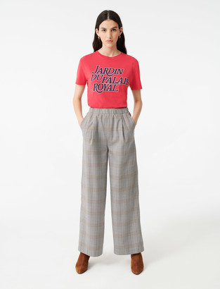 Maje Checked elasticated trousers