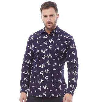 French Connection Mens Formal Printed Cut Shirt Marine Floral